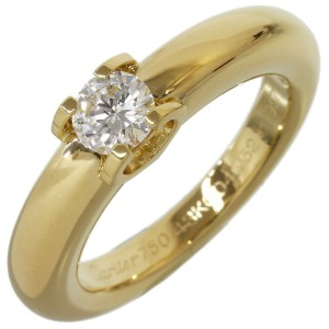 Cartier Solitaire Diamond Ring in 18K Yellow Gold US6.25 w/Box