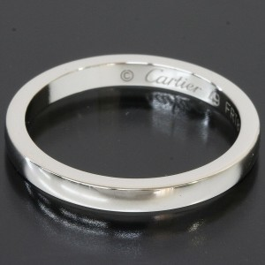 Cartier Platinum Simple Wedding 2mm Band Ring
