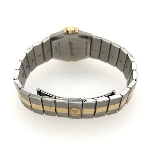 CHOPARD ST. MORITZ Quartz 24mm 18K Yellow Gold & Steel Watch 1.02TCW DIAMOND Bezel