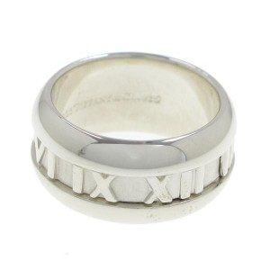 Tiffany & Co. 925 Sterling Silver Atlas Ring Size 4.5