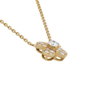 Van Cleef & Arpels 18K Yellow Gold Trefle 0.54ctw Diamond Pendant Necklace