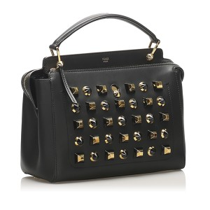 DotCom Studded Leather Satchel