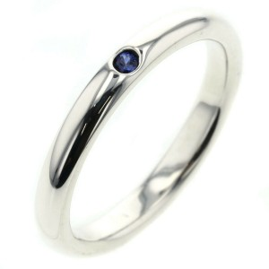 TIFFANY & Co. Silver/sapphire Stacking band Ring