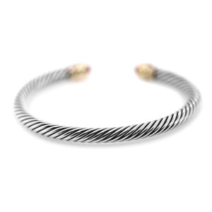 David Yurman Cable Classic Collection Bracelet with Garnet 14K Gold