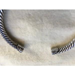 David Yurman Cable Sterling Silver 14K Yellow Gold Ruby Bracelet