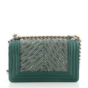 Chanel Boy Flap Bag Bead Embellished Chevron Calfskin Small