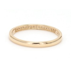 18K Yellow Gold with 0.12ct. Diamond Band Ring Size 7.75