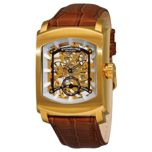 Stuhrling Midtown Banker 317.3335K31 Gold-Tone Stainless Steel & Leather 39mm Watch