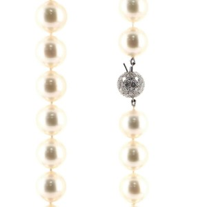 Tiffany & Co. South Sea Strand Necklace Cultured Pearls with Platinum and Diamonds 12-13MM