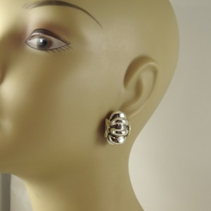 Lagos Sterling 18K Yellow Gold 925 Sterling Silver Earrings
