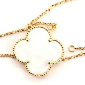 Van Cleef & Arpels Alhambra 100th Anniversary Pendant Necklace 18K Yellow Gold and Mother of Pearl Magic