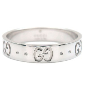 GUCCI 18k White Gold ICON Ring