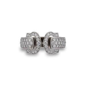 Cartier C de Cartier Ring 18K White Gold 1.20ctw Diamond Size 5.25