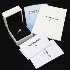 Forevermark 0.43ct & 0.06ct Diamonds Ring 18KWG US4.25 EU46.5 w/Box,Cert