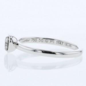 CARTIER 18k white GOld/diamond Diaman Leger de Cartier Ring TBRK-669