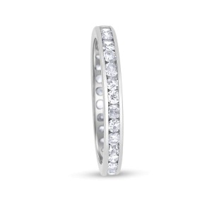 Platinum & 0.75ct Diamond Eternity Band Ring Size 7