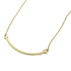 TIFFANY&CO 18k Yellow gold T smile small necklace RCB-34