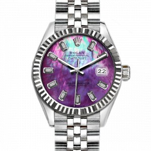 Rolex Datejust Stainless Steel with Purple MOP Dial 36mm Mens Watch