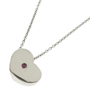 TIFFANY & Co. Silver Heart pink S Necklace