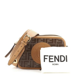 Fendi Camera Bag Zucca Coated Canvas Small