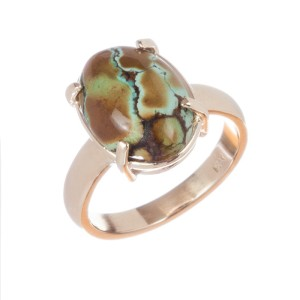 Alberto Juan 14 kt Gold Turquoise Cabochon Ring