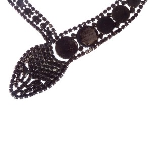 Butler and Wilson Rhinestone Snake Necklace