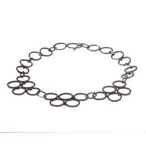 Hand Crafted Sterling Silver Circle Link Necklace