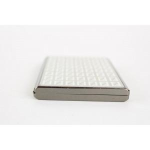 Fendi Grey x Silver Monogram FF Metal Hard Case Wallet Holder 29FF1215