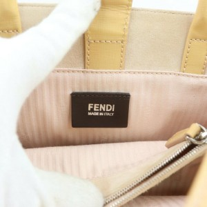 Fendi 2jour Tote 2way Vietllo with Strap 872697 Light Brown Leather Shoulder Bag
