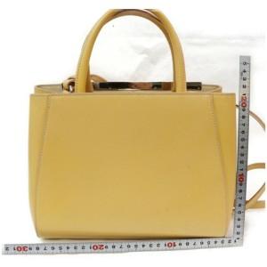 Fendi 2jours 2way Tote Vanilla Mustard Dujours with Strap 872646 Beige Leather Shoulder Bag