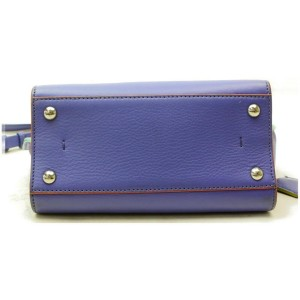 Fendi 3jours with Strap 872858 Purple Leather Tote