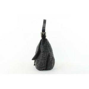 Fendi Grey FF Monogram Zucca Baguette Mamma Flap Bag 493ff67