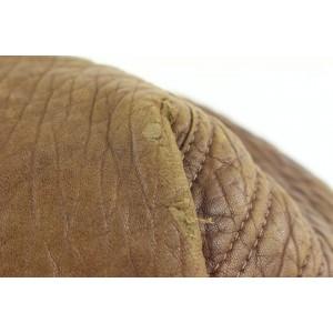 Fendi Large Brown Leather Spy Hobo Bag with Woven Handle 68ff423