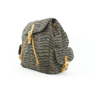 Fendi Zebra Zucca Tobacco Backpack 718ff323