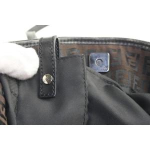 Fendi Dark Brown Monogram FF Bucket Shopper Tote Bag 90ff427
