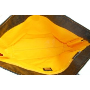 Fendi Black x Brown Monogram FF Spalmati Roll Tote bag 104ff428