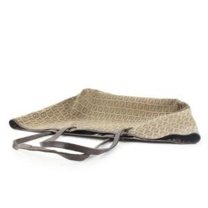 Fendi Brown Monogram FF Shopper Roll Tote Bag 297ff217