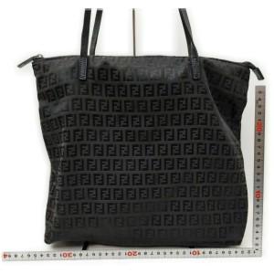 Fendi Dark Brown Monogram FF Zucca Tote Bag 862269