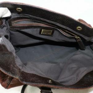 Fendi Bicolor Selleria 871184 Brown Leather Tote