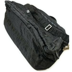 Fendi Large Black Monogram FF Zucca Travel Bag  862331