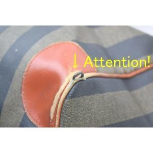 Fendi Pequin Stripe Boston Duffle Boston Bag 858259