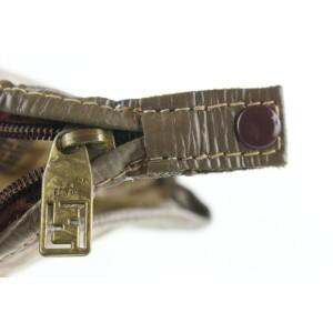 Fendi Brown Monogram FF Zip Pouch 72ff126