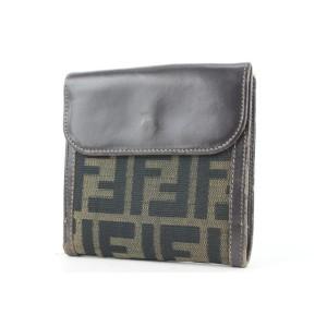 Fendi Monogram FF Zucca Compact Wallet 442ff61