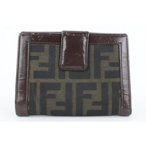 Fendi Brown Monogram FF Zucca Compact Bifold Wallet 3ff525