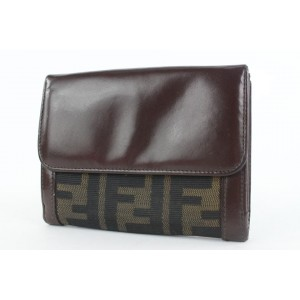 Fendi Monogram FF Zucca Compact Bifold Wallet 900ff413