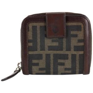 Fendi Monogram FF Zucca Compact Zip Wallet 13FF1214