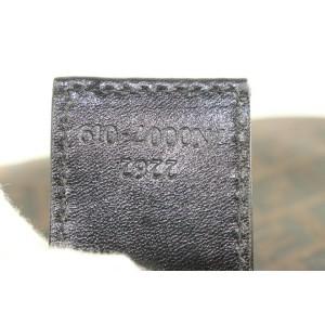 Fendi Brown Monogram FF Zucca Zucchino Pouch Cosmetic Bag Pochette 862832