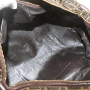 Fendi Brown Monogram FF Boston Duffle Bag 863103