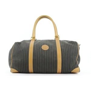 Fendi Pequin Stripe Boston Duffle Bag 120ff23