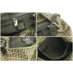 Fendi Ff Mama Forever Baguette 27fk0123 Brown Canvas Shoulder Bag